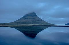 Mt. Kirkjufell at the blue hour (angelonicarmine) Tags: iceland mountain reflection bluehour landscape kirkjufell water