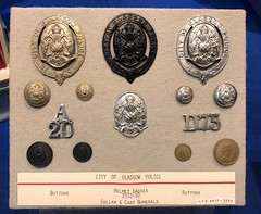 Police Museum - Glasgow Scotland - 2/10/18 (DanoAberdeen) Tags: buttons button helmet response women policebadge candid amateur danoaberdeen 2018 galasgow police emergency rescue uniform badge pin cap policeman policewoman woman man hat history policescotland museum strathclyde ancient vintage news old collection archive scotland glasgowpolice grampian services exhibition insignia glasgowcity cityofglasgow 1900s 1800s milenium 60s 70s 80s 90s 50s iphone iphone8plus constable policing memorabilia olddays glasgowpolicemuseum glasgowscotland handcuff handcuffs restrained detained guilty