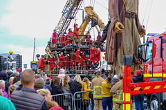 Lilliputians on the Giant (Pammy'sPics) Tags: giant spectacular 2018 new brighton colin colinbordley lilliputian wirral tithebarnstreet strand goree albertdock fujifilm fujixt2 1855mm giantspectacular2018 newbrighton royaldeluxe jeanluccourcoult streettheatre mechanicalmarionette