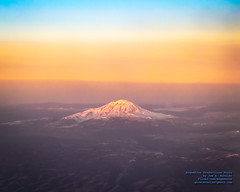 Mount Adams in the Sunrise From 22,925 Feet (AvgeekJoe) Tags: aerialphotograph d5300 dslr mountadams mtadams nikon nikond5300 sunrise tamron18400mm tamron18400mmf3563diiivchld usa washington washingtonstate aerial aerialphoto aerialphotography mountain volcano