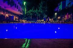 Barbecue night at Melisa Moment (Melissa Maples) Tags: kemer turkey türkiye asia 土耳其 apple iphone iphonex cameraphone autumn melissamoment melisamoment hotel swimmingpool pool water blue lights night evening