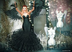 Black Sheep Of The Family And I Like It (lauragenia.viper) Tags: bento genusproject maitreya posesion secondlife secondlifefashion spicy swank tiffanydesigns truth wings goth gothic avatar virtual sexy elegant gown formal necklace hair hairaccessory pose fantasy mannequin outdoor girl woman female angel darkangel femmefatale beauty laurageniaviper secondlifemodel secondlifeblogger