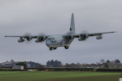 166513 US Marine C130 (Dougie Edmond) Tags: prestwick scotland unitedkingdom gb military aircraft airport egpk pik