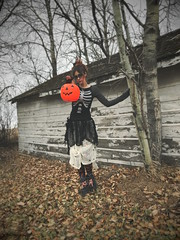 Hallows (obsequies) Tags: halloween costume outfit fashion style happyhalloween allhallowseve spooky spoopy goth grunge weirdo handmade obsequies etsy clothing platform shoes boots spider spiders skeleton ribcage pumpkin pumpkins dreary mood moody aesthetic dark october canada october31st woodland abandoned old rustic country zombie horror makeup cheesecloth diy me selfie kooky addamsfamily munsters creepy trees leaves fall autumn harvest outdoors nature home strange strega darkmori morigirl skirt shirt whimsy whimsical onyourfeetchineselaundry dead