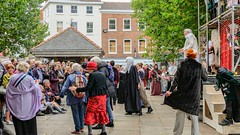 YMPST waggon play performance, St Sampson's Square, 16 September 2018 - 03 (nican45) Tags: yorkmysteryplays2018 16september2018 16092018 18135 18135mm 2018 csc fuji fujifilm mysteryplays nickansell september stsampsonssquare supporterstrust theharrowingofhell xt2 xf18135mmf3556rlmoiswr ymp ympst york yorkshire cast costumes mirrorless performance photographer photography waggonplay