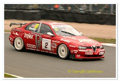 97  CUP_0442 (ladythorpe2) Tags: 2018 oulton park gold cup meeting circuit cheshire historic touring car challenge with the tony dron trophy 40 paul hogarth 1991 bmw e30 m3 2000cc red italian hscctcre super 97 neil smith 1997 alfa romeo 156 1998cc