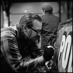 Craftsman (Ordinary Extraordinary World) Tags: 6x6 1600 analog bnw bronicasqai bw film format hp5 ilford ilfotec lc29 medium mediumformat mf monochrome push square zenzanonps craftsman painter