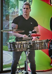 Drummer    (Thanks for 33,005,080 views) (LarryJay99 ) Tags: jaguar westpalmbeachflorida event compassphotoclub music holloween drummer man men guy guys dude male studly manly dudes handsome people virile arms tattoos tatts face butts hotmen mu musician
