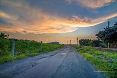 夕彩 sunset (Lin Honglin) Tags: 天空 雲彩 夕彩 黃昏 夕照 夕陽 tree color cloud sky road taiwan tokina nikond610 sunrise nikon sunset