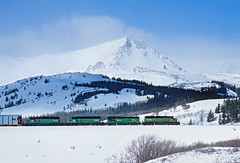 Still looking like BN (Moffat Road) Tags: burlingtonnorthernsantafe bnsf burlingtonnorthern bn coloradosouthern emd sd40 6339 14 glaciernationalpark bison winter montana train locomotive railroad mt