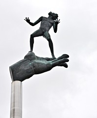The Hand of God by Carl Milles, Scarborough Civic Centre, 150 Borough Drive, Scarborough, Toronto, ON (Snuffy) Tags: handofgod handofgodpark carlmilles scarborough toronto ontario canada