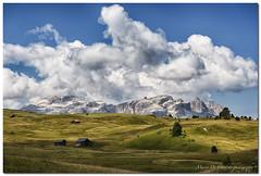 "Alta Badia - Pralongià (""Deca"") Tags: dolomiti dolomites montagna mountain pralongià nuvole clouds prati lawns estate summer gruppodelsella panorama landscapes"