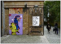 No hurry (donbyatt) Tags: croydon mku3a outing urban walls graffiti streetart spraycans candid people wrdsmth dastardly muttley cartoon