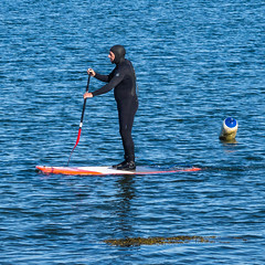 Tight Fit? (JmiaJ) Tags: paddleboard man drysuit tight fit paddle board