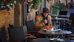 In the Street Cafe (picsessionphotoarts) Tags: sonyphotography sony sonyalpha bayern sonyalpha6500 ilce6500 bavaria deutschland germany fürth e1670mmf4zaoss streetphotography citylife urbanlife portrait porträt portraitphotography lazyafternoon