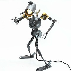 Cool And Antique Robot Table Lamp (mywowstuff) Tags: gifts gift ideas gadgets geeky products men women family home office