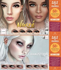 Sale-A-Palooza October <3 (Mafalda Hienrichs) Tags: warpaint war paint secondlife sale palooza saleapalooza mainstore promotion catwa lelutka applier exhaustion liner nacre eyeshadow discount