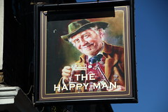 Pub sign for The Happy Man, Englefield Green. (Peter Anthony Gorman) Tags: happyman pubsigns englefieldgreen surreypubs