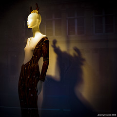 The Devil comes in many guises (zolaczakl) Tags: bristol nelsonstreet shopwindow showroomdummy mannequin lightshadow shadows phototakenthroughawindow fujix100s reflections 2018 october photographybyjeremyfennell jeremyfennellphotography uk england