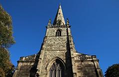 Reach for the sky (Eddie Crutchley) Tags: europe england shropshire shrewsbury outdoor blueskies church architecture sunlight simplysuperb greatphotographers