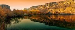 Deep Lake Sunset (KPortin) Tags: deeplake sunlakedryfallsstatepark lake sunset reflections trees autumn hss
