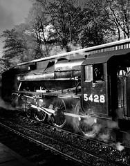 Eric Treacy (Davoski) Tags: pickering yorkshire train station steamlms heritage monochrome engine loco nymr