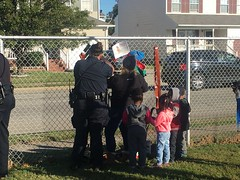 Fence Art Installation- Marshall Early Learning Center 10.19.18 (Newport News Choice) Tags: fence art marshall early learning center childhood action activities design pattern children kids community engagement public outdoors fall 2018 outisde