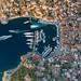 Luftbild von der Insel Hydra Griechenland