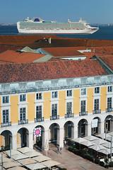 If the timing is right, things can look odd. (Dan Haug) Tags: praçadocomércio lisboa lisbon portugal odd oddity ship cruiseline scale pocruises plaza xpro2 xf56mmf12r xf56mm fujifilm