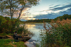Gone Fishing (djrocks66) Tags: sunset sunrise landscapes waterscapes people still life oceanscapes waterfalls waterfall nature outdoors hiking mountains ny long island fuji fujifilm cinestill fishing river lake beach film medium format 120
