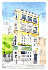 The Black Friar - London (lwdphoto) Tags: lance duffin lanceduffin lancewadeduffin watercolor painting art british england english theblackfriar pub publichouse london beer architecture