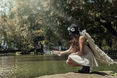Conceptual Photoshoot - Angel (AllanAnovaPhotos) Tags: angel costume river trees water model filipina philippines pinoy sonya6500 a6500 vivitar series1 28105 28105mm vintage lens vintagelens photoshoot