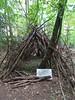 Wooden teepee in Duke's Drive woods, 2018 Oct 05 (Dunnock_D) Tags: chester unitedkingdom gb britain uk dukesdrive woods woodland trees teepee sticks england