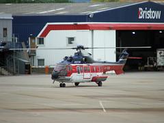Aerospatiale Super Puma - DSCF0036 - Edited (406highlander) Tags: aerospatiale superpuma as332l1 bristow helicopter rotary rotor aircraft hangar aviation aberdeen airport aberdeenairport dyce egpd abz scotland fujifinepixs5500 fujifilmfinepixs5500 gtigv elicottero hubschrauber hélicoptère helicóptero