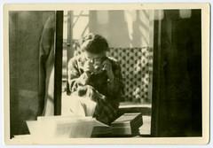 Self-portrait of a woman (...Olivier...) Tags: snapshot instantané amateur photo femme autoportrait glass mirror miroir self portrait light lumière vintage ancienne 1940