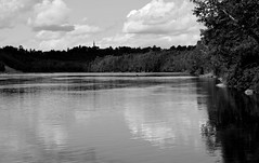 St. John River, B&W (RockN) Tags: stjohnriver bw august2016 grandfalls newbrunswick canada