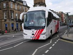 City Circle of Hayes Scania K410EB6 Irizar i6S YN18SW 158, in Globus Tours livery, at Shandwick Place, Edinburgh, on 11 September 2018. (Robin Dickson 1) Tags: irizari6s busesedinburgh scaniak410eb6 citycircle globustours yn18sww