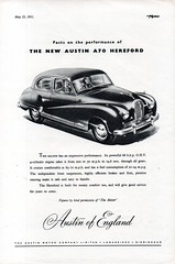 1951 Austin A70 Hereford Saloon English Original Magazine Advertisement (Darren Marlow) Tags: 1 5 7 9 19 51 1951 a austin a70 70 h hereford s saloon c car cool collectible collectors classic automobile v vehicle e english england b british britain 50s