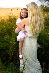 Janelle (austinspace) Tags: woman mother spokane cheney washington child blond blonde palouse grasses farm land sunset dusk magichour