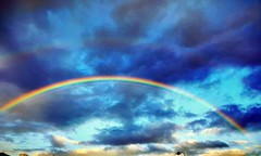 Morning Rainbow (andrewcaswell) Tags: rainbow hdr landscape clouds morning walk queensland australia blue sky creation nature