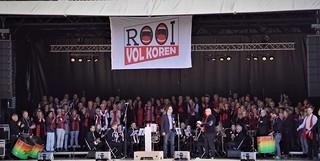 Wethouder Menno Roozendaal opende Rooi Volkoren waaraan 57 koren deelname op zondag 7 oktober 2018