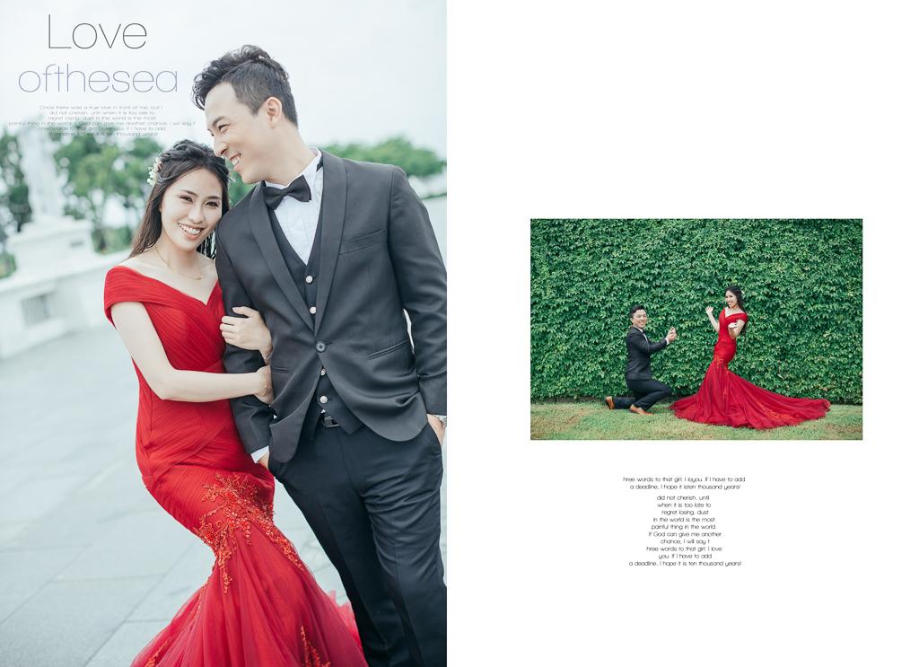 雨神的洗禮,帶出清新脫俗感的婚紗影像 inBlossom手工訂製婚紗