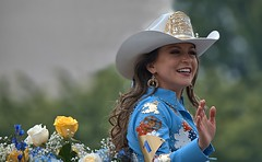 Happy To See You (Scott 97006) Tags: equestrian rider woman female lady smile wave parade beautiful