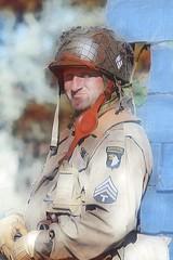 101st Airborne (merseymouse) Tags: reenactors ww2reenactors militaryreenactors 1940s 101st