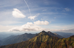 Aerial cloud 愛媛  西条市 石鎚山10 14 2018 (tsake123) Tags: sony sky sel2470z captureone c1 cloud alpha a7 alpha7 landscape lines mountain forest tree 石鎚山 japan 飛行機雲 sonyflickraward