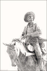 """""""Pat Garrett's Ride to Destiny"""" (newmexico51) Tags: sculpture horse cowboy gun cowboyhat patgarrett bronze equestrian robertsummers roswell nm newmexico southwest roswellnm gregorypeterson man"""