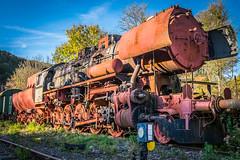 Final destination (Eckehard Straßweg) Tags: fujifilmxt2 lokomotive train zug abstellgleis old vintage alt lostplaces germany europe europa rost rust