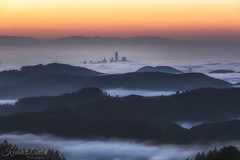 Peekaboo (wandering indian) Tags: fog sf mttam city cityscape clouds sanfrancisco kedardatta california karlthefog nikon landscape