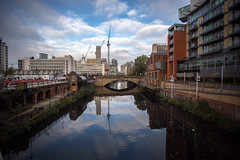 Reflections on the River Irwell (andrew.stuart1) Tags: red manchester irwell salford city archtecture river reflections