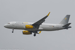 EC-MXP - 2018 build Airbus A320-232, on approach to Runway 23R at Manchester (egcc) Tags: 8244 a320 a320232 airbus ecmxp egcc lightroom man manchester ringway sharklets vlg vy vueling vuelingairlines vuelingcom